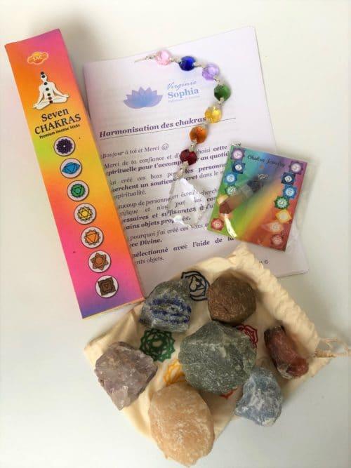 photo objets box 3 harmonisation des chakras